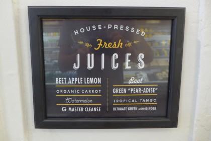 Gourmet Garage Tribeca juice menu