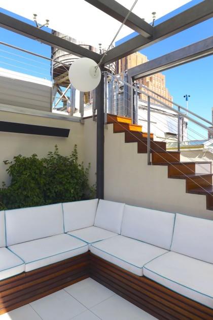 Loft Peeping Duane Penthouse roof deck banquette