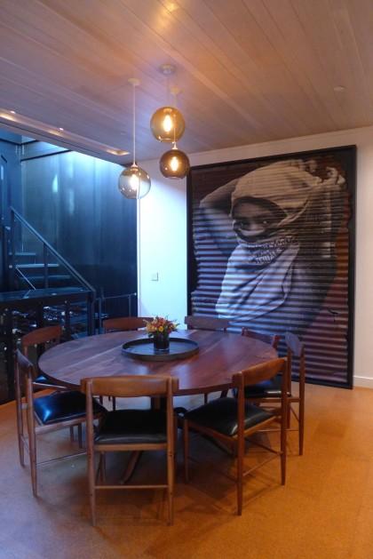 Loft Tour Laight penthouse dining room with JR artwork