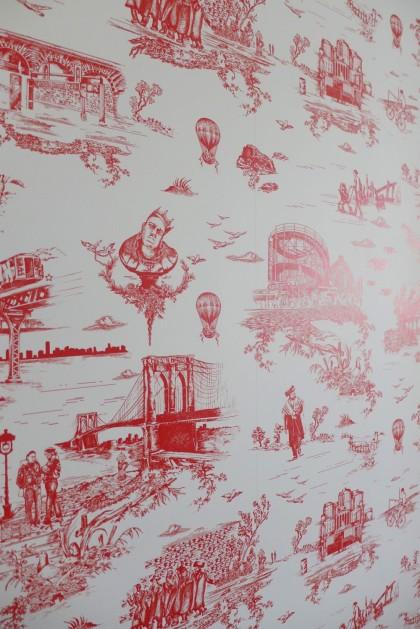 Loft Tour Laight penthouse elevator door wallpaper