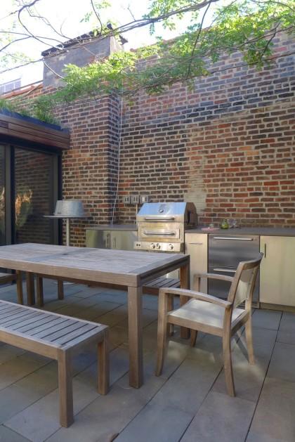 Loft Tour Laight penthouse roof deck dining table