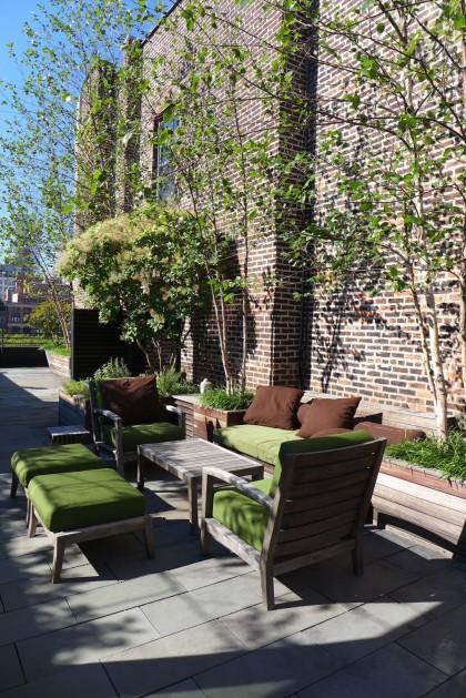 Loft Tour Laight penthouse roof deck seating