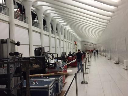 PATH WTC concourse fashion show prep