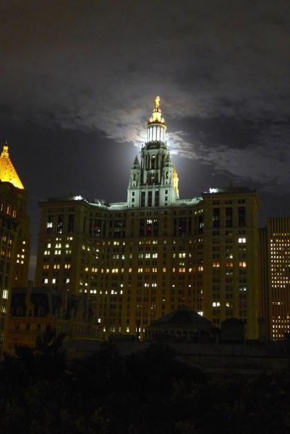 super blood moon Municipal Building