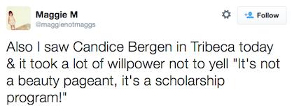 tweet Candice Bergen