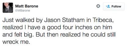 tweet Jason Statham