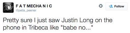 tweet Justin Long