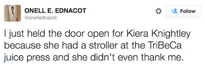 tweet Keira Knightly