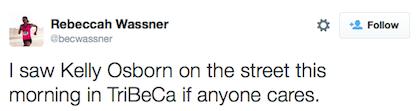 tweet Kelly Osborne