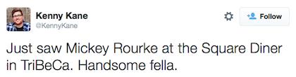 tweet Mickey Rourke