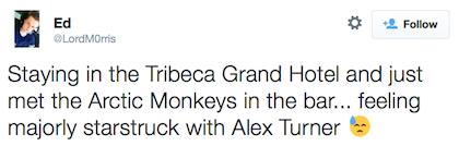 tweet arctic monkeys
