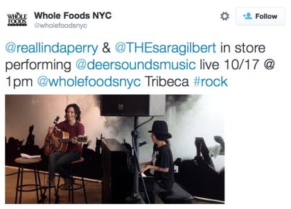 Whole Foods tweet Linda Perry Sara Gilbert