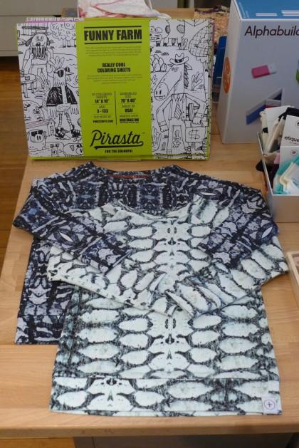 Babesta shirts and coloring sheets