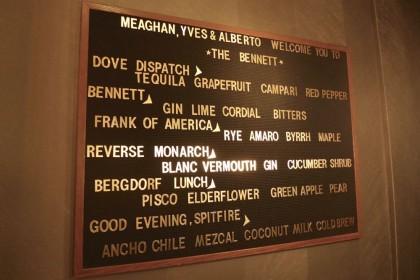 The Bennett menu