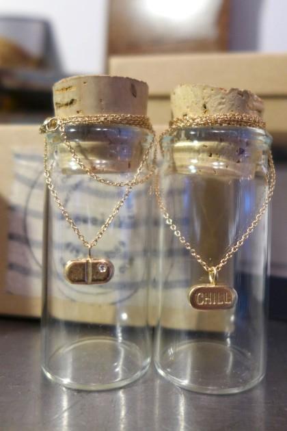 Cass Lilien chill pill pendants