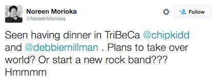 tweet Chip Kidd and Debbie Millman