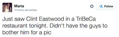 tweet Clint Eastwood