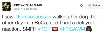 tweet Famke Jjanssen