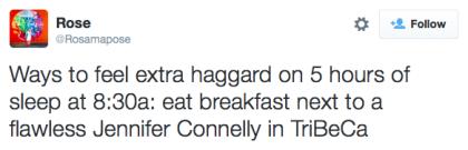 tweet Jennifer Connelly