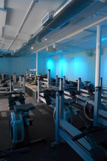 Current rowing studio rowing machines
