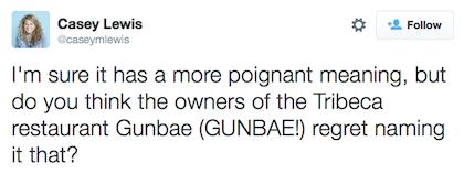 tweet gunbae