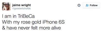 tweet rose gold iphone