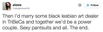 tweet sexy black lesbian art dealer
