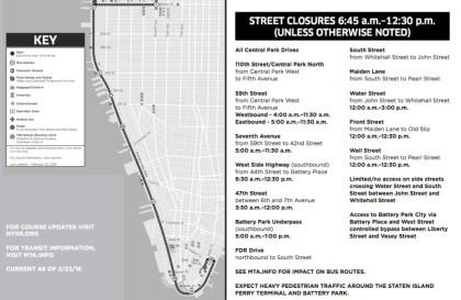 half marathon map and street closures