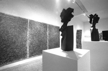 Rosemarie Castoro show at Hal Bromm Gallery 1990