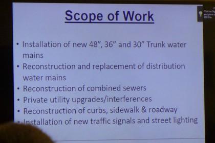 Worth Street Reconstruction slide1 at CB1 April2016
