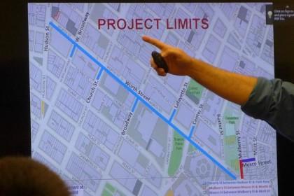 Worth Street Reconstruction slide2 at CB1 April2016