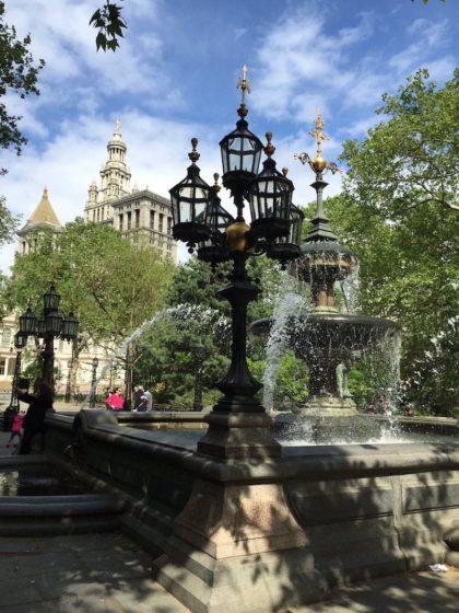 City Hall Park fountain by Brigette Roth Smith (1)