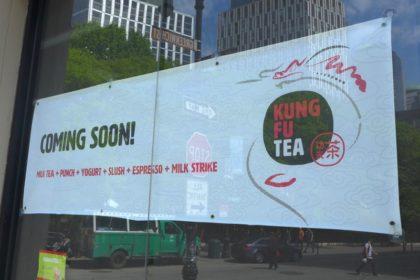 Kung Fu Tea Tribeca sign