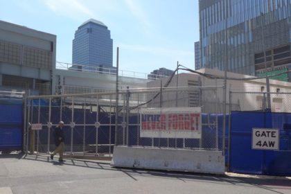 WTC PATH statue horseback gone
