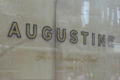 Augustine signage closeup