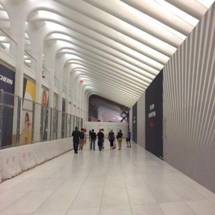 West Corridor Oculus wall at World Trade Center