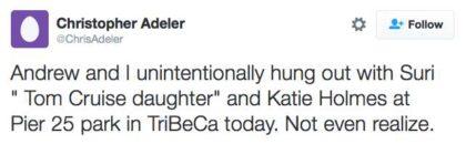 tweet Katie Holmes