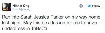 tweet Sarah Jessica Parker
