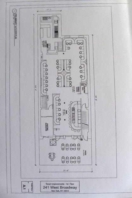 241 WBroadway floor plan