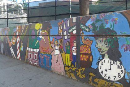 Alice in Wonderland mural on Chambers