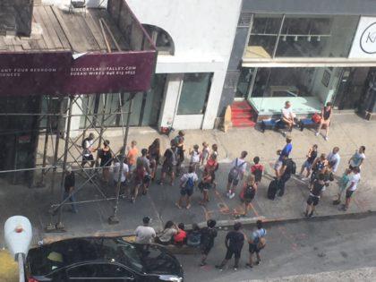 Casey Neistat fans at 368 Broadway