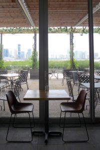 City Vineyard inside table