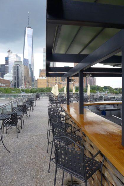 City Vineyard upstairs bar facing south