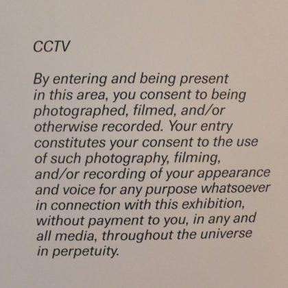 ICP Museum photo notice