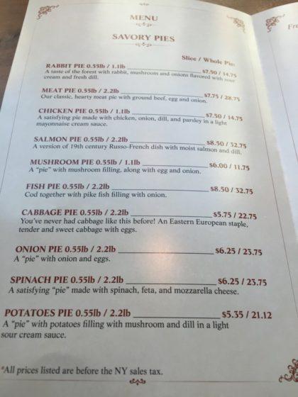 Galerie de cafe savory pies