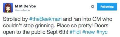 tweet Beekman