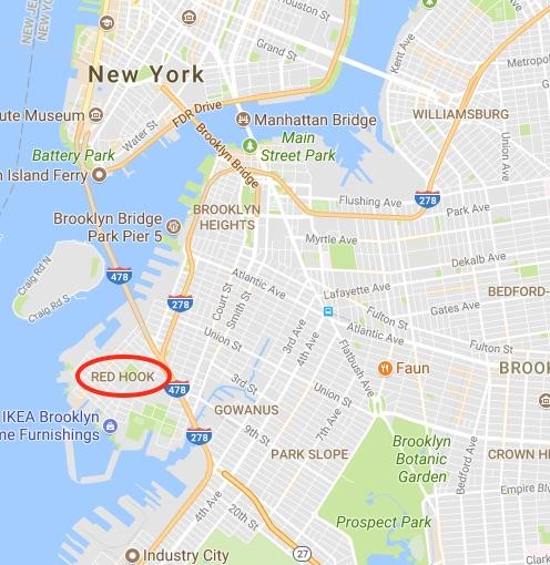 red hook brooklyn map Tribeca Citizen Field Trip Red Hook red hook brooklyn map