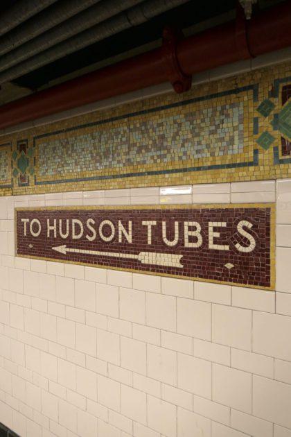 Hudson Tubes sign