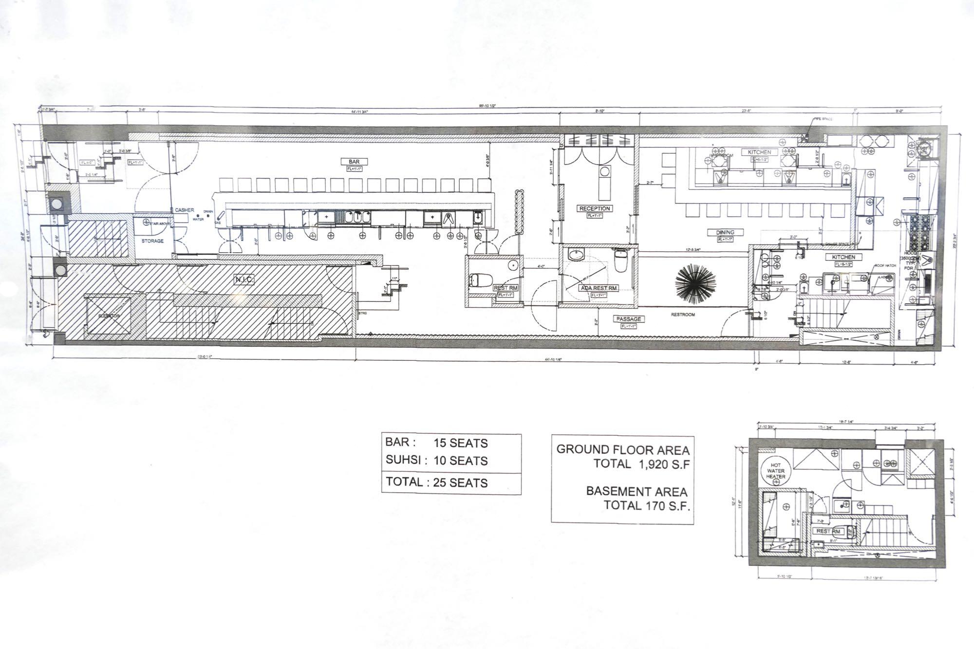 Restaurant Bar Floor Plan: Stylish Sushi Bar Opening On Warren