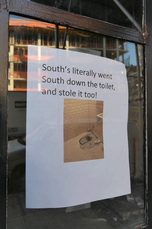Tribeca Citizen | Seen & Heard: Souths Took Its Toilet